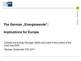 """The German """"Energiewende"""""""