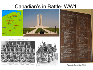 Canadian`s in Battle