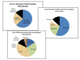 FY2013 Budget Powerpoint Presentation