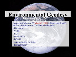 Environmental Geodesy - Nevada Geodetic Laboratory