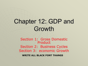 Chapter 12 GDP and Growth