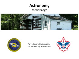 Astronomy Part 1 - Malvern Troop 7