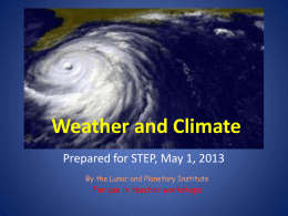 Weather and Climate - Lunar and Planetary Institute