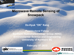 Remote sensing, ice&snow and climate change