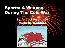 Sports in the Cold War 3rd