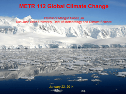 Slide 1 - Department of Meteorology and Climate Science