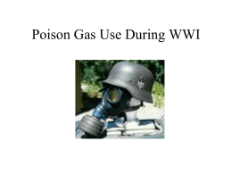 Poison Gas Use During WWI