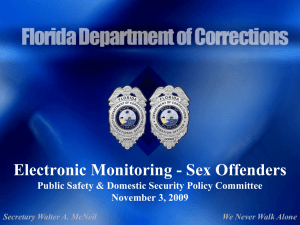 Electronic Monitoring - Florida Department of Corrections