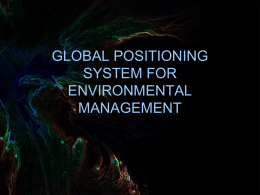 save-GPS for Environmental Management