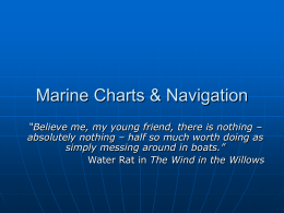 1 Marine Charts and Navigation