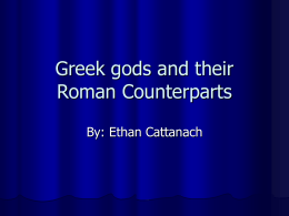 Greek gods and there counterparts