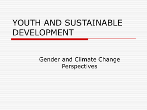 YOUTH AND SUSTAINABLE DEVELOPMENT