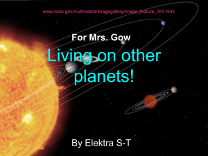 Living on other planets!