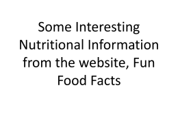 Fun Food Facts: A Powerpoint Presentation