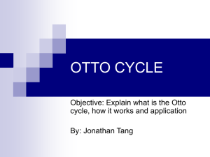 OTTO CYCLE - Engineering