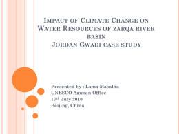 IMPACT OF CLIMATE CHANGE ON WATER - Asian G-WADI