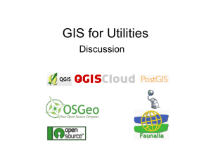 GIS for Utilities - Discussion