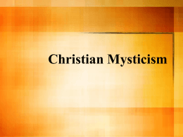 Christian Mysticism and Reality