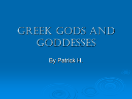 PowerPoint Presentation - Greek Gods and Goddesses