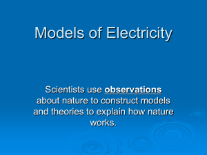 lesson S1-3-02 Models of Electricity