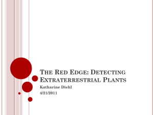 THE RED EDGE: DETECTING EXTRATERRESTRIAL