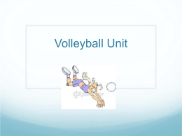 Volleyball Unit - Westside Global Awareness Magnet