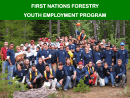 First Nations Training Program (PPT Slide Show)