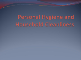 SVN 3E - 3.5 - Personal Hygiene and Household Cleanliness p