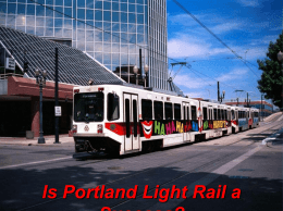 Light-Rail Transit in Vancouver, Washington