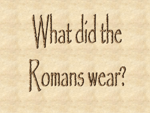 What did Romans wear