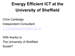 Energy Efficient ICT at the University of Sheffield