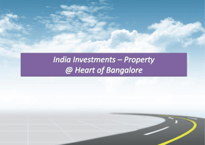 NRI Investments Ideal Property in the Heart of Bangalore