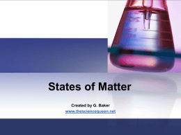 States of Matter and some mixtures