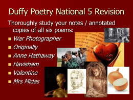 N5 Duffy Overview of All Poems