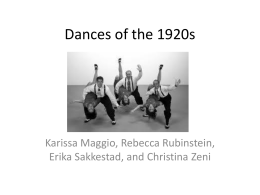 Dances of the 1920s