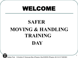 Patient Handling - Safety First Training