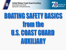 Boating Safety - U.S. Coast Guard Auxiliary