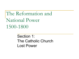 The protestant reformation the reformation and national power 1500 1800 ccuart Images