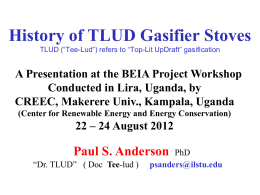 History of TLUDs