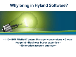 Hyland Software Corporate PowerPoint