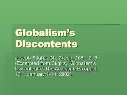 3.17 – Globalism`s Discontents