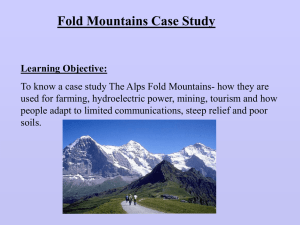 Human Activity in the Alps