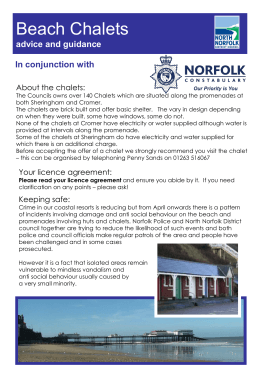 Beach Huts advice and guidance - North Norfolk District Council