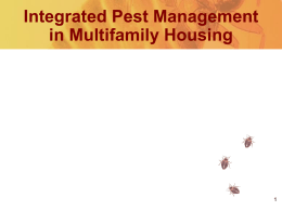 Integrated Pest Management in Conventional Public