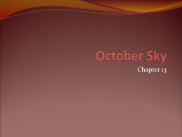 October Sky - 9thlitstinson1112