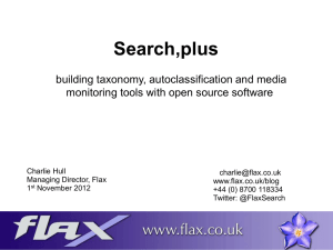 Search,plus - building taxonomy, autoclassification and