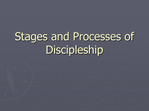 Stages and Processes of Discipleship