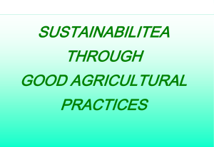 sustainabilitea through good agricultural practices