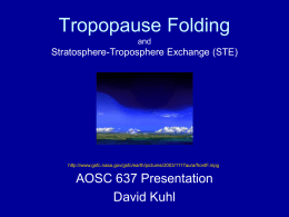 Tropopause Folding and Stratosphere