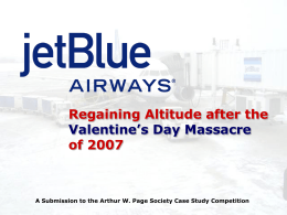 JetBlue Takes Off - Arthur W. Page Society